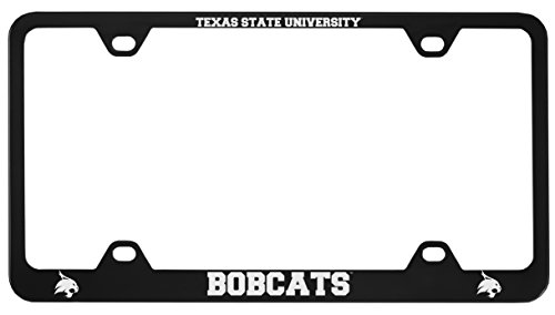 (Texas State University -Metal License Plate Frame-Black)