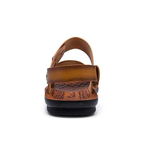 Dual Aire Wangcui Sandalias Color EU Casuales Marrón Comfort Sandalias Zapatos Libre Marrón 42 tamaño 3 Deportes 2 Hombre Beach Al para AX8dnqwrA