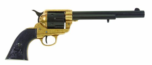 Denix Old West Cavalry Non Firing Replica Revolver, Dual Tone