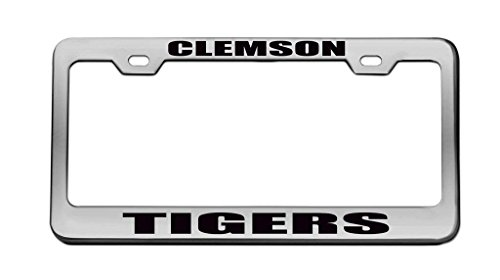 YEX Clemson Tigers License Plate Frame Car Tag Frame Auto License Plate Holder 12