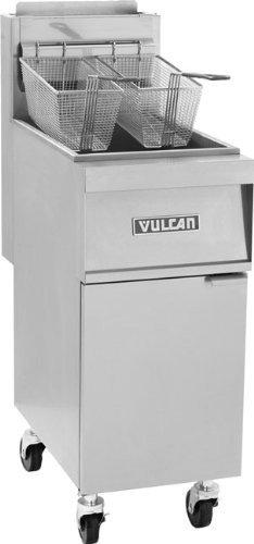 Millivolt Propane - Vulcan Free Standing 45 lbs Millivolt Gas Fryer (1GR45M) Liquid Propane