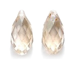 Swarovski Briolette Drop (Swarovski 6010 Briolette Drop Beads, Crystal Effects, Golden Shadow, 6.5 by 13mm, 2 Per Pack)