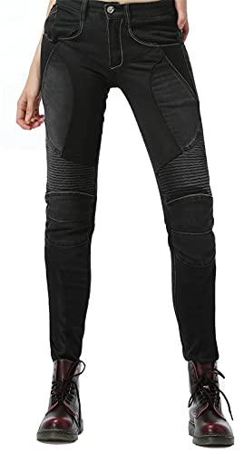 NOPEXTO Sportliche Motorrad Hose Mit Protektoren Motorradhose Mit Oberschenkeltaschen,High Stretch Motorrad Anti-Drop…