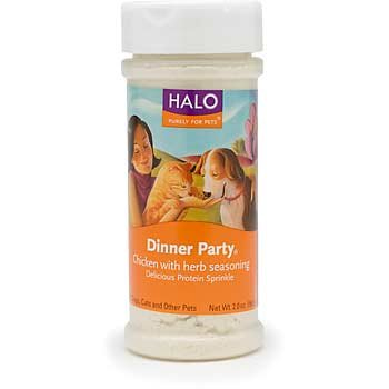 """""""Dinner Party Chicken and Herbs 2 Oz. by Halo, Purely For Pets"""", My Pet Supplies"""