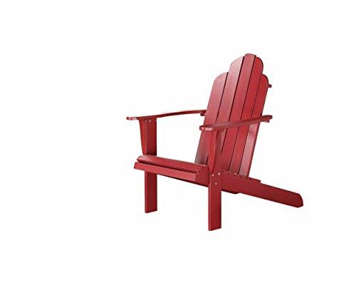 - Linon 21150RED-01-KD-U Pasco Red Adirondack Chair