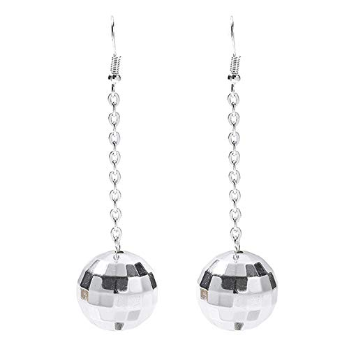 Rave Envy Disco Ball Earrings for Women - 70's, Silver, Size One Size Fits Most from Rave Envy