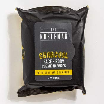 Face & Body Mens Wipes 30 Count Charcoal Cleansing Nobleman, Case of 24
