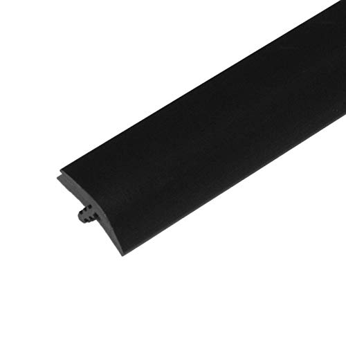 Edge Supply Black 3/4 in x 100 Ft Center Barb Tee Moulding T Molding Hobbyist Pack, Small Projects, Arcade Machines and Tables (100 FT)