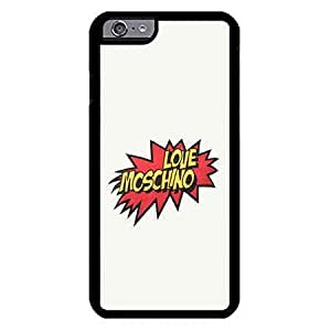 Iphone 6/6s Case Funda 4.7 Inch Moschino Logo Luxury Brand Ultrathin Design Elegant Print Cover
