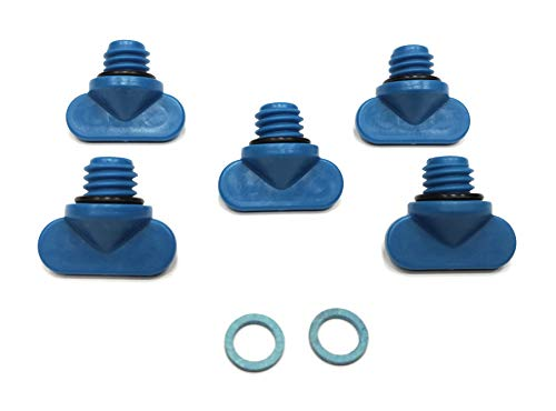 Replacement Kits Brand Mercruiser Manifold Engine Block Drain Plugs & Gear Case Oil Drain Gasket Replaces 8M0119211, 22-806608A02 & 12-19183 Combo