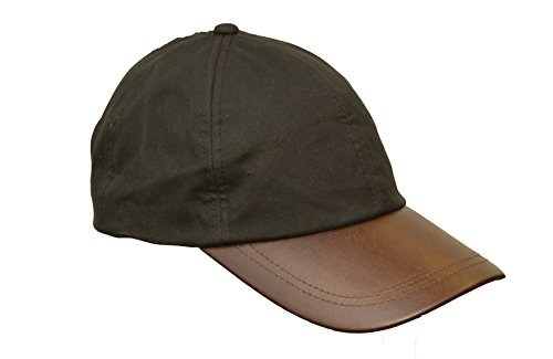 Walker and Hawkes Men's Wax Baseball Cap Waxed Cotton Leather Peak One-Size Black