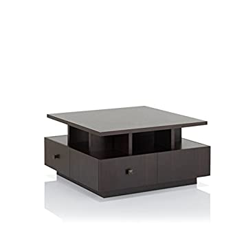 Furniture of America Murry Square Coffee Table in Espresso