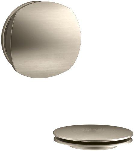 KOHLER K-T37391-BV PureFlo Cable Bath Drain Trim with Basic Rotary Turn Handle, Vibrant Brushed Bronze