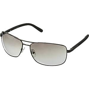 GUESS Men's Metal Navigator Rectangular Sunglasses, 08C, 66 mm