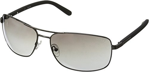 GUESS Men's Metal Navigator Rectangular Sunglasses, 08C, 66 mm