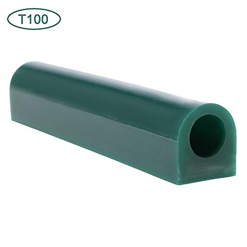 Jewelry Ring Tool Green Carving Wax Tube, Carving Wax Ring Tube for Making Rings Mold Round Wax Tube With Centred Hole/Hard Wax/Solid Carving Wax Tube blank Large Flat Side Tube (T100)