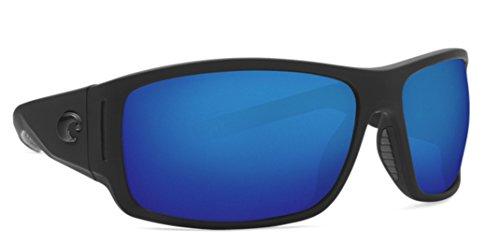 Costa Del Mar Cape Sunglasses Matte Black Ultra Frame Blue Mirror 580P Plastic - Costa Blue Del Mar Frame