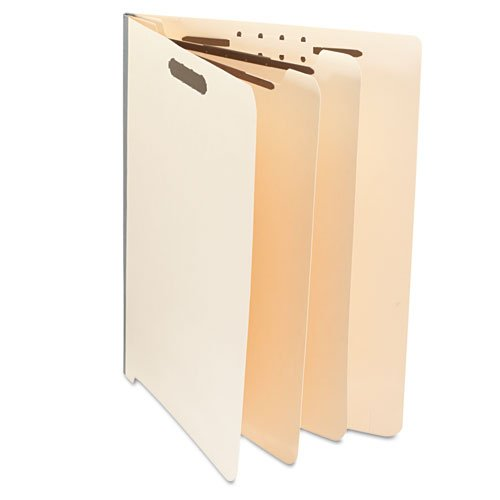 Manila End Tab Folders with Full Cut, Letter, Six-Section, 10/Box by Universal