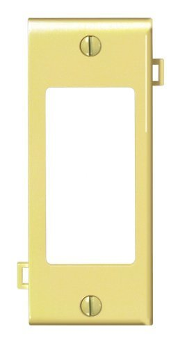 Leviton PSC26-I 1-Gang Decora/GFCI Device Decora Wallplate, Sectional, Thermoplastic Nylon, Device Mount, Center Panel, Ivory