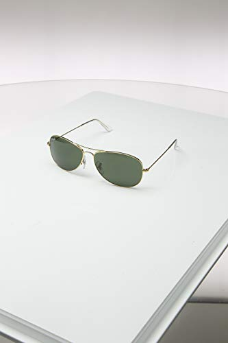 Ray Ban Rb3362 Cockpit Gold Frame/Green Lens Metal Sunglasses, ()