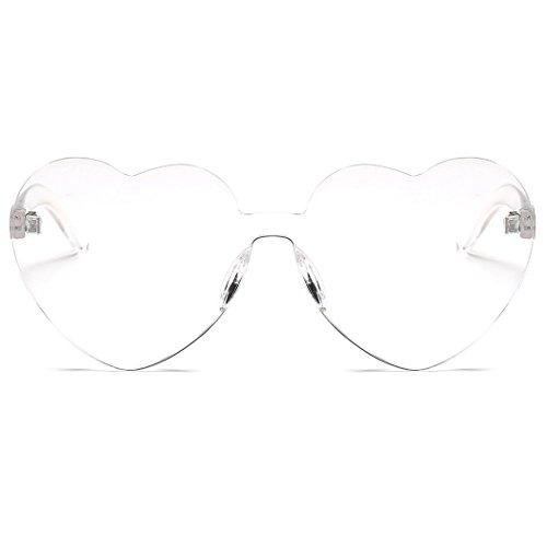 Sol Gafas Transparent Sol Gafas Corazón Gafas Protección con de Mujer de de UV Sol de Estilo Fansport con para 0RXwCq