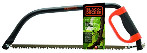 Black+Decker BD1704 21-Inch Bow Saw with Knuckle Guard ()
