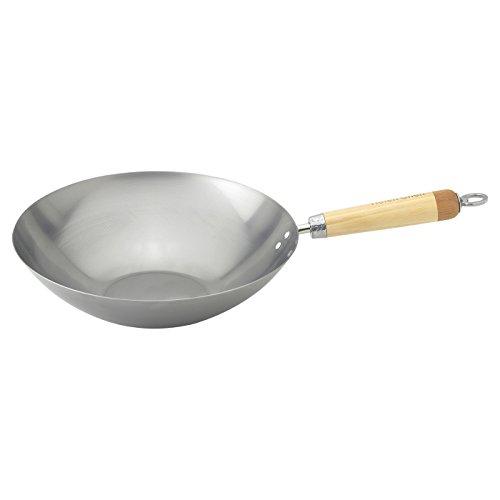 (Helen Chen's Asian Kitchen Carbon Steel Wok Stir Fry Pan, 12-inch)