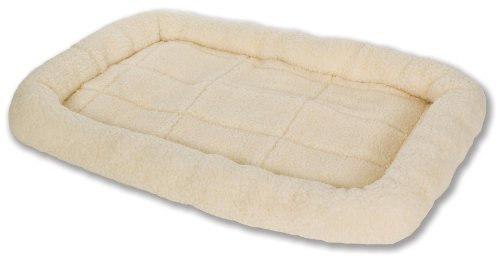 Little Giant Pet Lodge Fleece Pet Bed, 29 Inch Medium Size, Cream