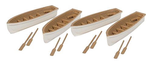 - Walthers SceneMaster HO Scale Scenery Set Row Boat 4-Pack (Assembled) White/Tan