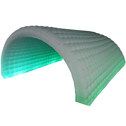 (Sayok Inflatable Tunnel Sports Tunnel Entrance Inflatable Tunnel Tent for Event Exhibition Promotion(White, 19.68x9.84x9.84ft))