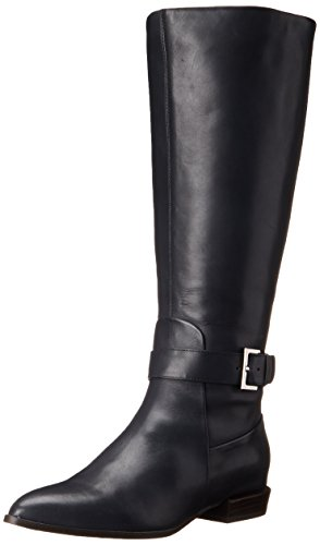 Image of Nine West Women's Diablo-Wide Calf Leather Knee-High Boot