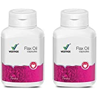 Vestige 500 Mg Flax Oil Capsules - 90 Count (Pack of 2)
