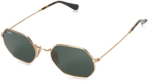 (Ray-Ban Metal Unisex Sunglass Oval, Gold, 53 mm)