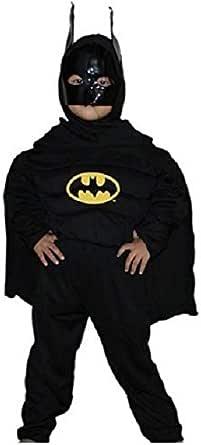 Boys Batman Dark Knight Costume Black Age 7-8 Years Fancy Dress Party Super Hero