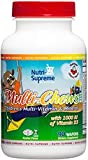"Nutri-Supreme Research Multi Chews Children""s Multi-Vitamin Mineral Delicious Cherry Flavor – 90 Waf"