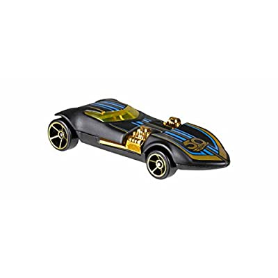 Hot Wheels 50th Anniversary Black and Gold Collection - Bone Shaker, Twin Mill, Rodger Dodger, 1968 Dodge Dart, 1964 Chevy Impala, 1965 Ford Ranchero, and Gold Chase 1967 Camaro: Toys & Games