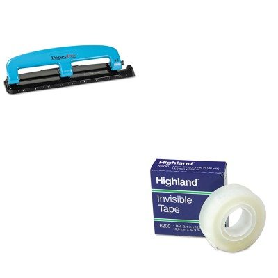 KITACI2103MMM6200341296 - Value Kit - Paperpro 12-Sheet Capacity Compact Three-Hole Punch (ACI2103) and Highland Invisible Permanent Mending Tape (MMM6200341296) by PaperPro