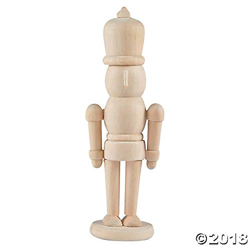 (PWS Sales 12 DIY Unfinished Wood Nutcracker Christmas Ornaments to Paint 5