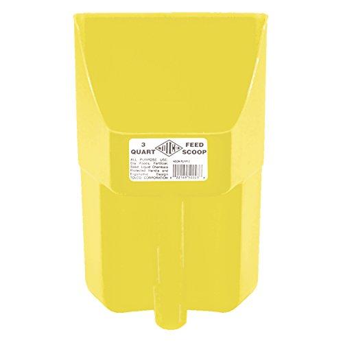 Tolco Heavy-Duty Plastic Scoop, 3 Quart, Yellow