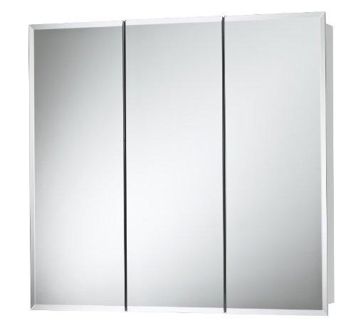 Jensen 255236 Horizon Frameless Medicine Oversize Cabinet, 36-Inch by 28-1/4 by 5-1/4-Inch (Tri View Frameless Medicine Cabinet)