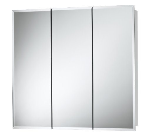 Jensen 255230 Horizon Frameless Medicine Oversize Cabinet, 30-Inch by 28-1/4 by 5-1/4-Inch