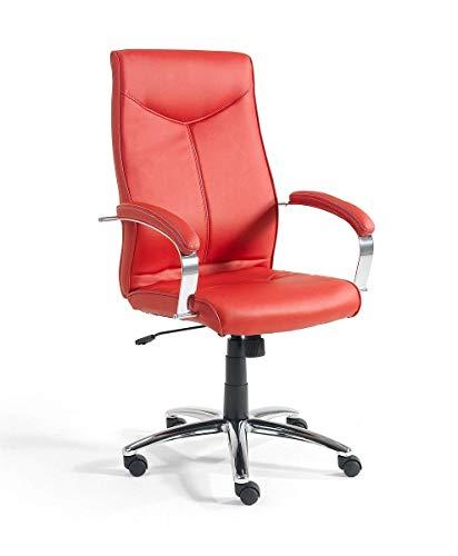 Easychair Turin - Silla de Oficina, Color Rojo