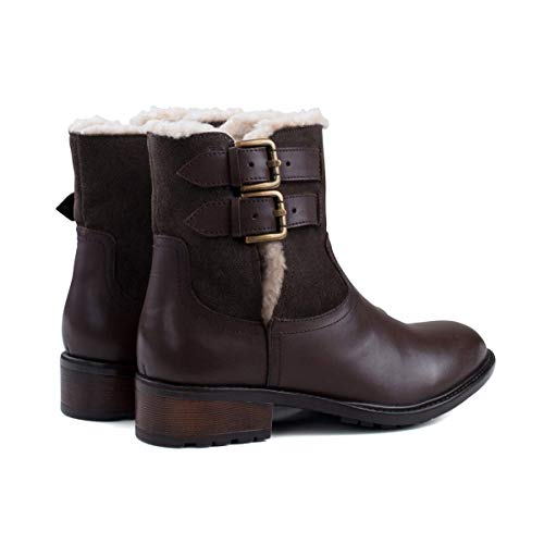 Lined Brown Boot Leather Ladies Redfoot Fur Suede 5q6n0xOXnw