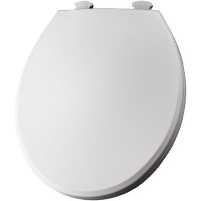 Round Solid Plastic Toilet Seat with Easy Clean and Change Hinges