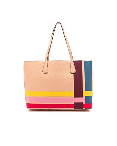 eb487fb68cfd Tory Burch Perry Stripe Pebbled Leather Tote Variegated Stripe Multi  Handbag Bag  Amazon.ca  Shoes   Handbags