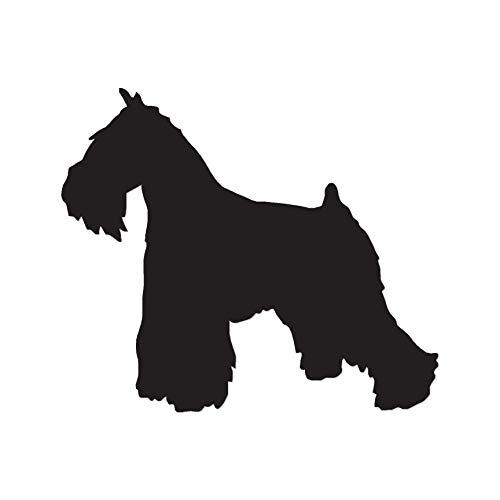 Miniature Schnauzer Dog Breed Silhouette - Vinyl Decal Sticker - 4.35