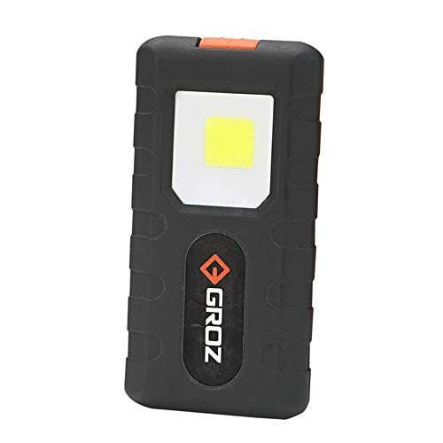 Groz Portable Pocket-Sized COB LED Flashlight with Magnetic Clip | 150 lumens, 3 Watts | Best Torch for Work…