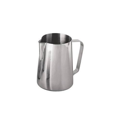 Update International EP-12 Stainless Steel Frothing Pitcher, 12-Ounce, Set of 6