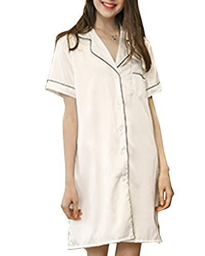 Pigiama lungo per Maniche a Biancheria A Camicia le Stagioni da donne corta Stile delle Pigiama Notte Donna Sleepwear Tutte DaiHan 5qPxwtYw