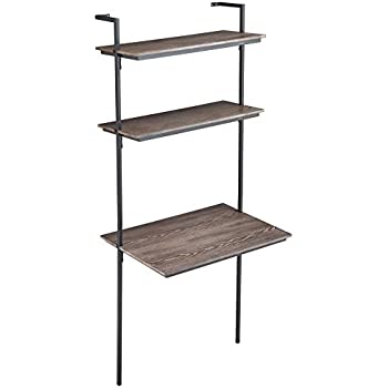 Classic Desk Bookshelf Black Color Kitchen
